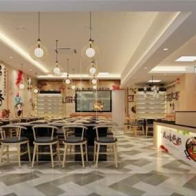 新中式快餐店3D模型【ID:653836287】