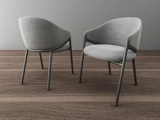 北歐餐椅3D模型【ID:736213188】
