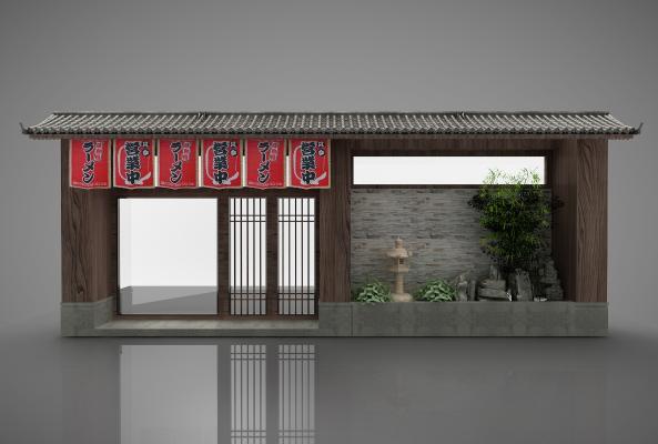 日式寿司店外观3D模型【ID:246964437】