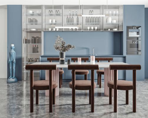 现代餐桌椅组合 餐桌 餐椅