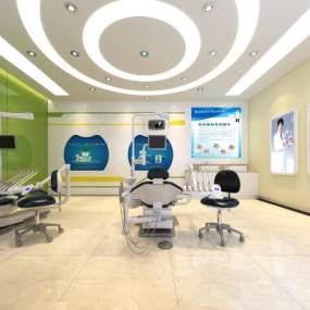 现代医院3D模型【ID:935447793】