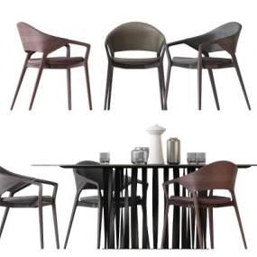 现代餐桌椅组合 3D模型【ID:842368866】