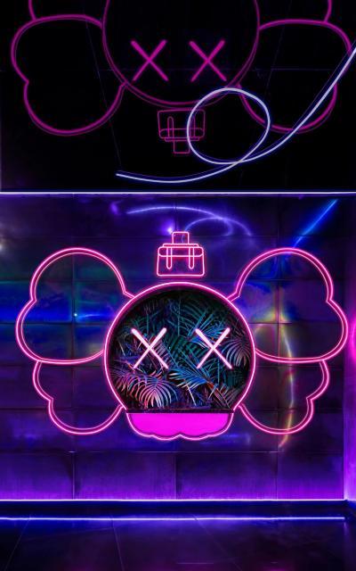 现代霓虹灯造型墙3D模型【ID:846726565】