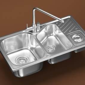 厨房洗水槽洗水盆 3D模型【ID:242300851】