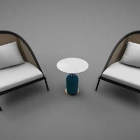 现代风格椅子3D模型【ID:652542776】