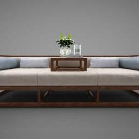 新中式风格沙发3D模型【ID:645833633】