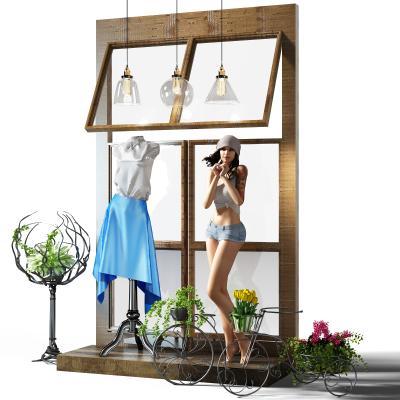 現代櫥窗模特3D模型【ID:332533003】