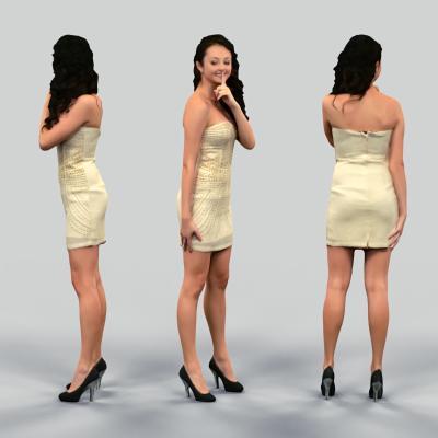 現代時尚女性3D模型【ID:343263098】