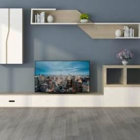 北欧电视柜3D模型【ID:943554902】