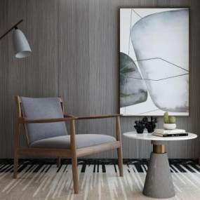 現代休閑椅3D模型【ID:851162810】