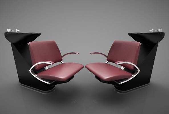 工業風格洗頭椅3D模型【ID:746322795】