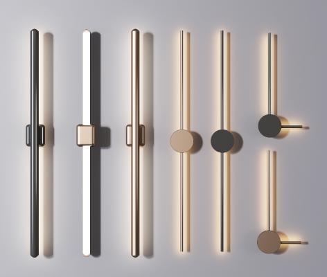 现代轻奢金属壁灯组合 金属壁灯 壁灯