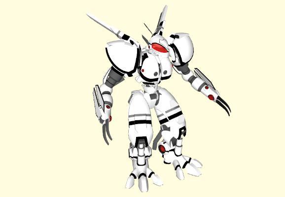 现代变形机器人玩具SU模型【ID:151891289】