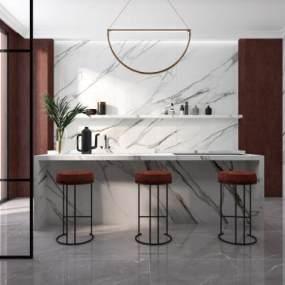 現代廚房3D模型【ID:546933344】