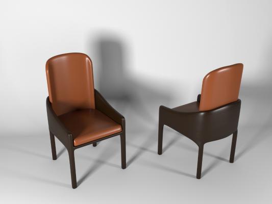 现代单椅餐椅3D模型【ID:733284175】