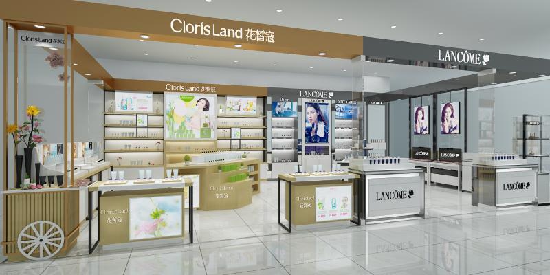 現代化妝品專賣店3D模型【ID:941274888】