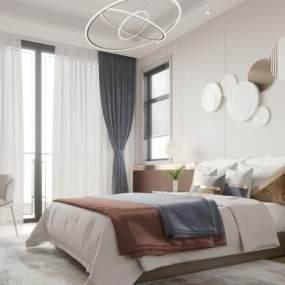 现代卧室3D模型【ID:545399297】