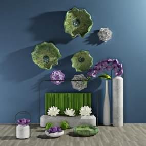 现代植物盆栽3D模型【ID:233030814】