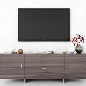 現代電視柜3D模型【ID:951163916】
