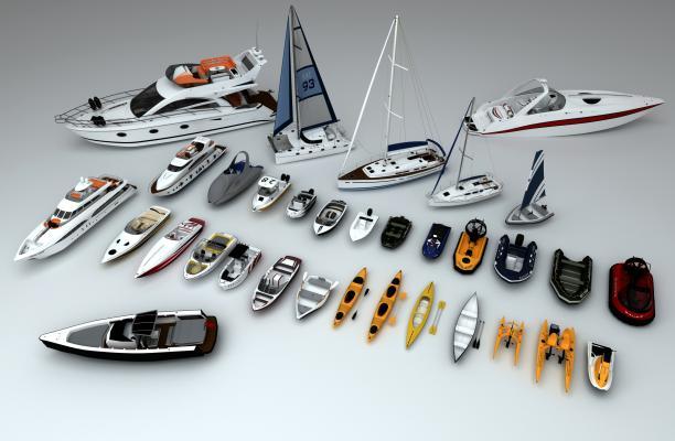 游艇3D模型【ID:443781862】