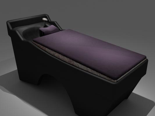 现代按摩椅按摩床3D模型【ID:932359039】