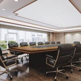 新中式会议室3D模型【ID:947173141】