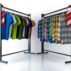 服装店衣架 3D模型【ID:141464037】