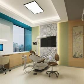 现代牙科医疗诊室 3D模型【ID:939372764】