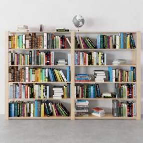 现代书柜3D模型【ID:151162527】