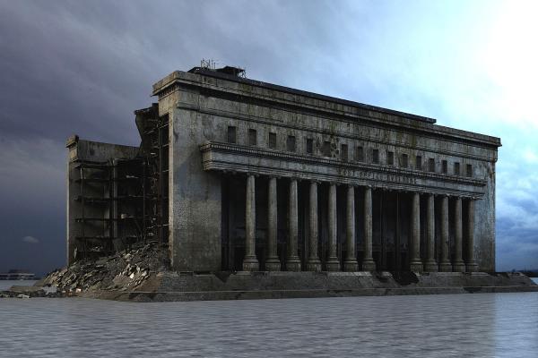 烧毁的建筑3D模型【ID:241638197】