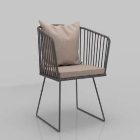 现代休闲单椅3D模型【ID:735950091】