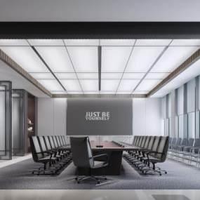 新中式会议室3D模型【ID:949254171】