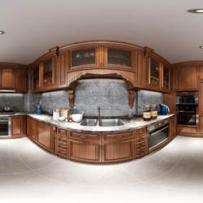 欧式厨房柜子3D模型【ID:547343359】