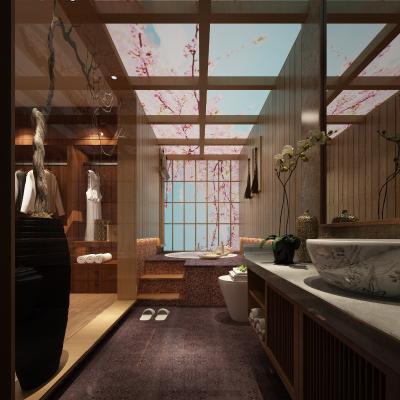 浴室空间3D模型【ID:540961581】