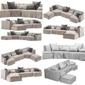 现代沙发3D模型【ID:653324550】