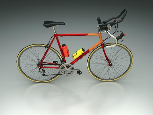 现代时尚山地自行车3D模型【ID:448771610】