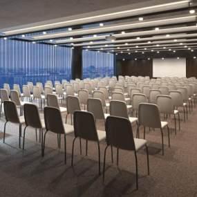 现代会议室3D模型【ID:951040178】