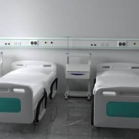 現代病床3D模型【ID:651636150】