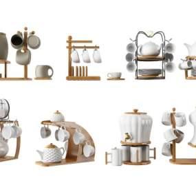 北欧茶壶茶具组合 3D模型【ID:342153321】