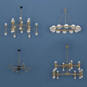 现代吊灯3D模型【ID:731518801】