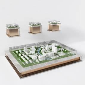 现代售楼处俯瞰图规划沙盘3D模型【ID:235256003】