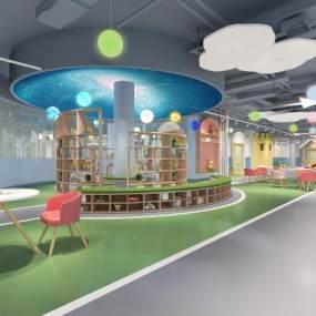 现代幼儿园3D模型【ID:949290634】