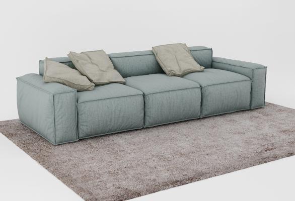 現代沙發3D模型【ID:632357676】