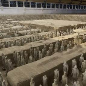 现代秦始皇兵马俑博物馆3D模型【ID:332560121】