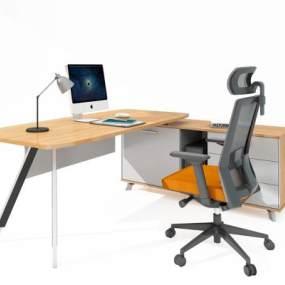 现代办公桌3D模型【ID:953874185】