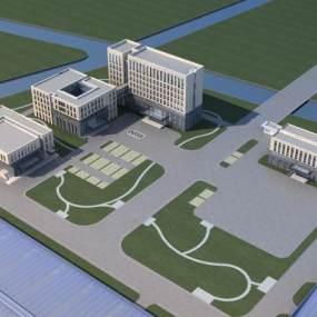 现代石材办公楼3D模型【ID:152995928】