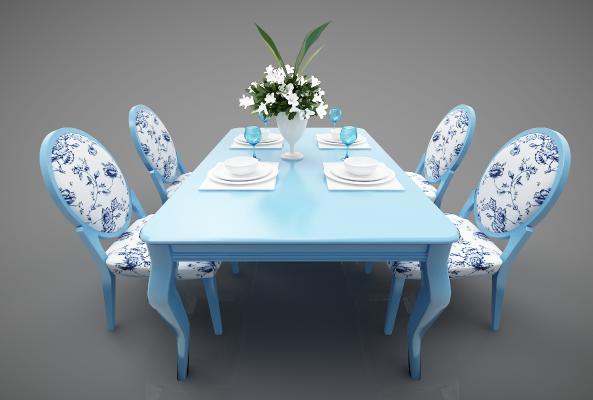 地中海风格餐桌3D模型【ID:847456839】