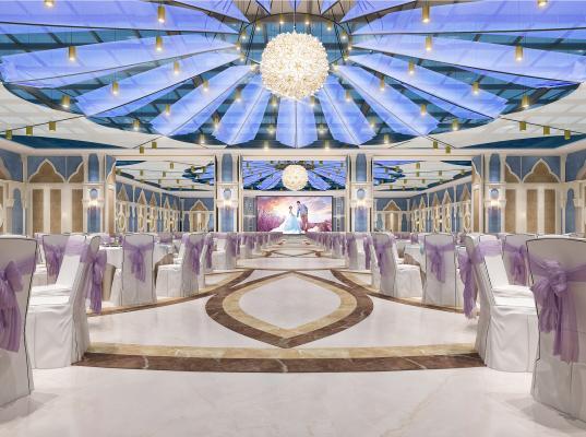 欧式宴会厅婚礼现场3D模型【ID:743898217】
