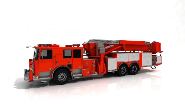 现代消防车3D模型【ID:442235783】
