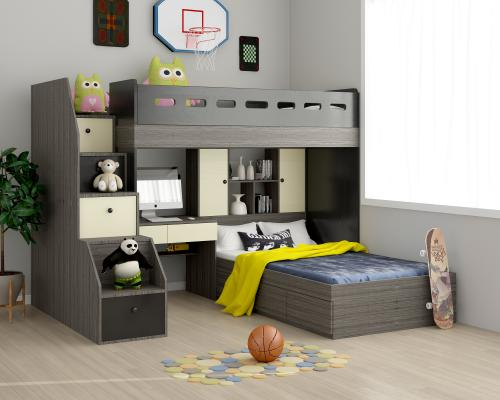 现代儿童床3d3D模型【ID:846999810】